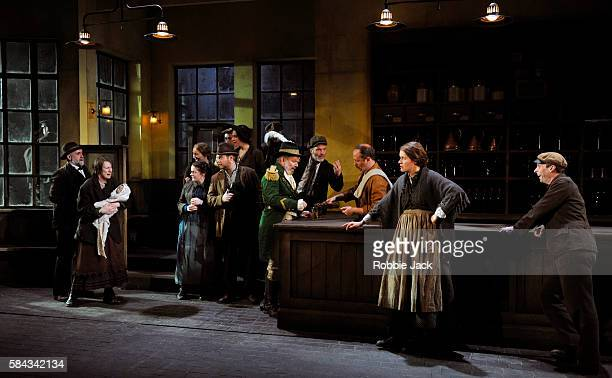 Josie Walker as Mrs Grogan Lloyd Hutchinson as Peter Flynn Justine Mitchell as Bessie Burgess and Tom VaughanLawlor as The Covey with artists of the...