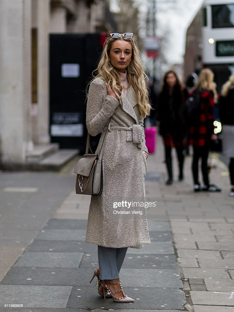 Josie wearing a Chloe bag outside Daks during London Fashion Week AW16 on February 19, 2016 in London, England, United Kingdom.