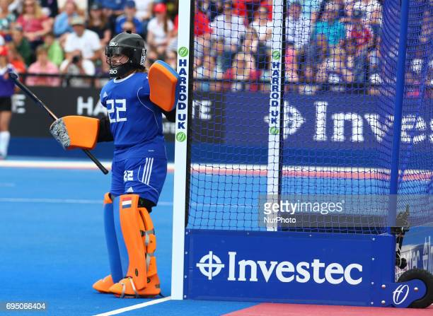 Josine Koning of Netherlands during the Investec International match between England Women and Netherlands Women at The Lee Valley Hockey and Tennis...