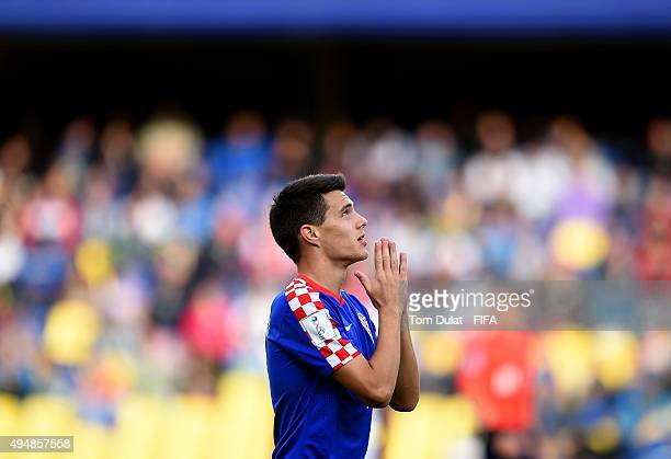Josip Brekalo of Croatia celebrates his team's second goal during the FIFA U17 World Cup Chile 2015 Round of 16 match between Croatia and Germany at...