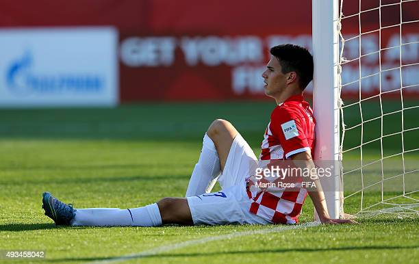 Josip Brekalo of Croatia looks dejected after the FIFA U17 Men's World Cup 2015 group A match between USA and Croatia at Estadio Sausalito on October...