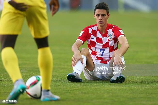 Josip Brekalo of Croatia reacts during the FIFA U17 World Cup Chile 2015 Quarter Final match between Croatia and Mali at Estadio Nelson Oyarzun...