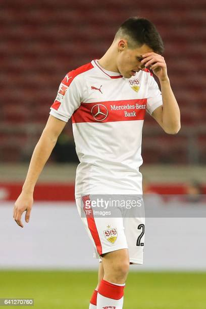 Josip Brekalo of Stuttgart looks on during the Second Bundesliga match between VfB Stuttgart and Fortuna Duesseldorf at MercedesBenz Arena on...