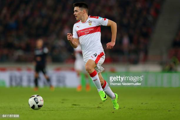 Josip Brekalo of Stuttgart runs with the ball during the Second Bundesliga match between VfB Stuttgart and Fortuna Duesseldorf at MercedesBenz Arena...