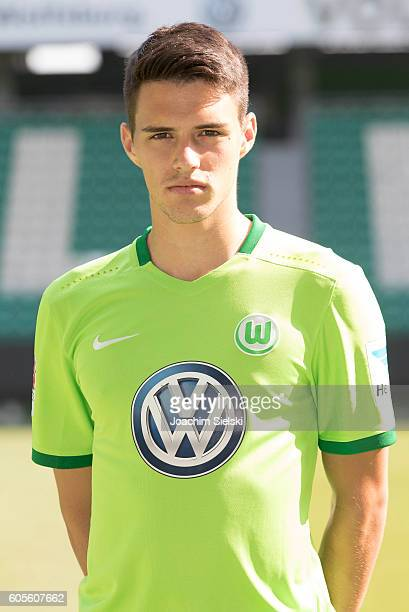 Josip Brekalo poses during the official team presentation of VfL Wolfsburg at Volkswagen Arena on September 14 2016 in Wolfsburg Germany
