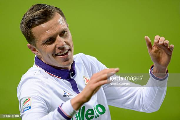 Josip Ilicic of ACF Fiorentina gestures during the Serie A football match between FC Internazionale and ACF Fiorentina FC Internazionale wins 42 over...