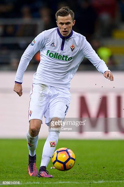 Josip Ilicic of ACF Fiorentina in action during the Serie A football match between FC Internazionale and ACF Fiorentina FC Internazionale wins 42...