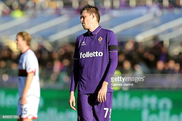 Josip Ilicic of ACF Fiorentina reacts during the Serie A match between ACF Fiorentina and Genoa CFC at Stadio Artemio Franchi on January 29 2017 in...
