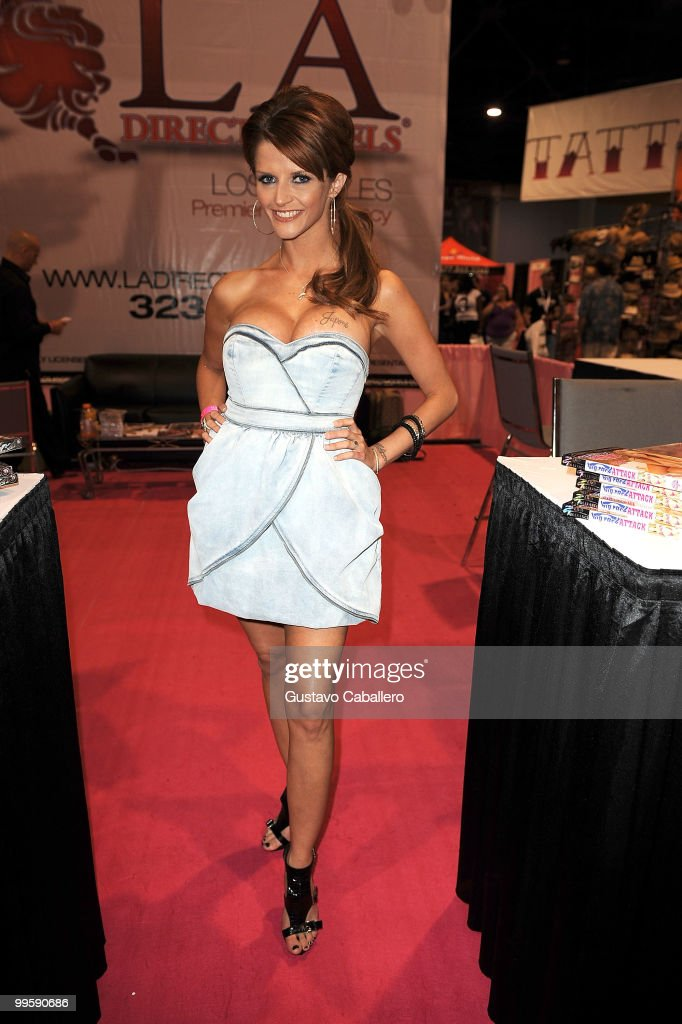 Joslyn James attends Exxxotica Miami Beach at the Miami Beach Convention Center on May 15 2010 in Miami Beach Florida