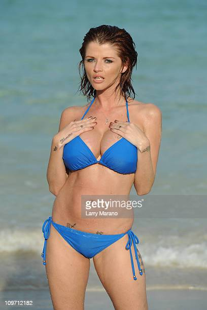 Joslyn James Tiger Woods' former mistress poses in Miami on March 1 2011 in Miami Beach Florida