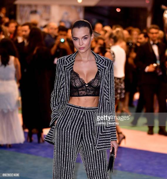 Josphine Skriver arrives to the 2017 CFDA Fashion Awards at Hammerstein Ballroom on June 5 2017 in New York City