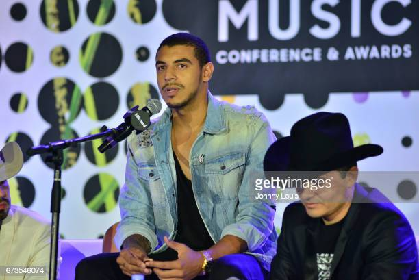 Joss Favela and Manuel Medrano during The Billboard Latin Music Conference Awards Songwriters The New Generation panel at Ritz Carlton South Beach on...