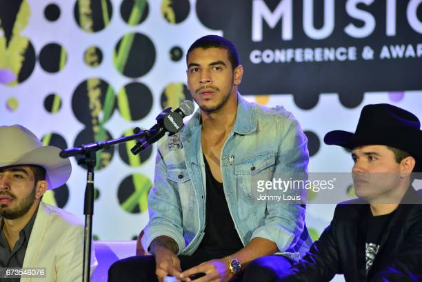 Joss Favela Manuel Medrano and Horacio Placencia during The Billboard Latin Music Conference Awards Songwriters The New Generation panel at Ritz...
