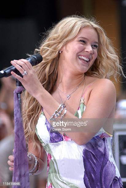 Joss Stone during Joss Stone performs on the 'Today' Show Summer Concert Series August 26 2005 at NBC Studios Rockefeller Plaza in New York City NY...
