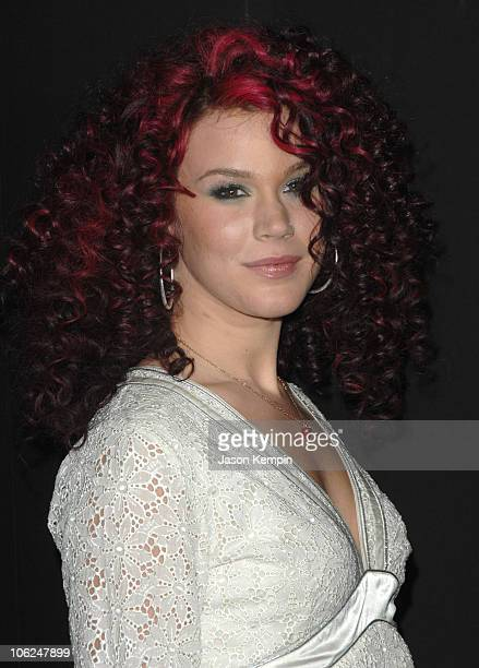 Joss Stone during MercedesBenz Fashion Week Fall 2007 Marc Jacobs Arrivals at New York State Armory in New York City New York United States