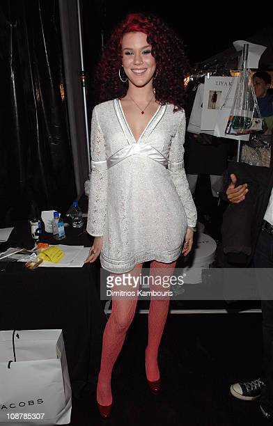 Joss Stone during MercedesBenz Fashion Week Fall 2007 Marc Jacobs Backstage at New York State Armory in New York City New York United States
