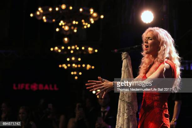 Joss Stone performs at the Life Ball 2017 Gala Dinner at City Hall on June 10 2017 in Vienna Austria