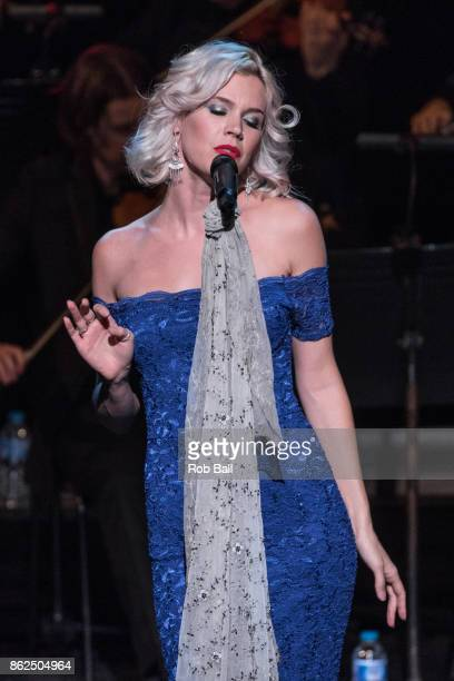 Joss Stone performs live on stage with a live orchestra at The Royal Festival Hall on October 17 2017 in London England