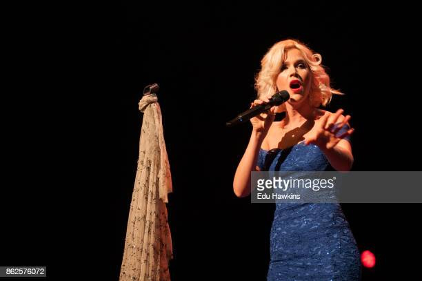 Joss Stone performs with a live orchestra on stage at The Royal Festival Hall on October 17 2017 in London England