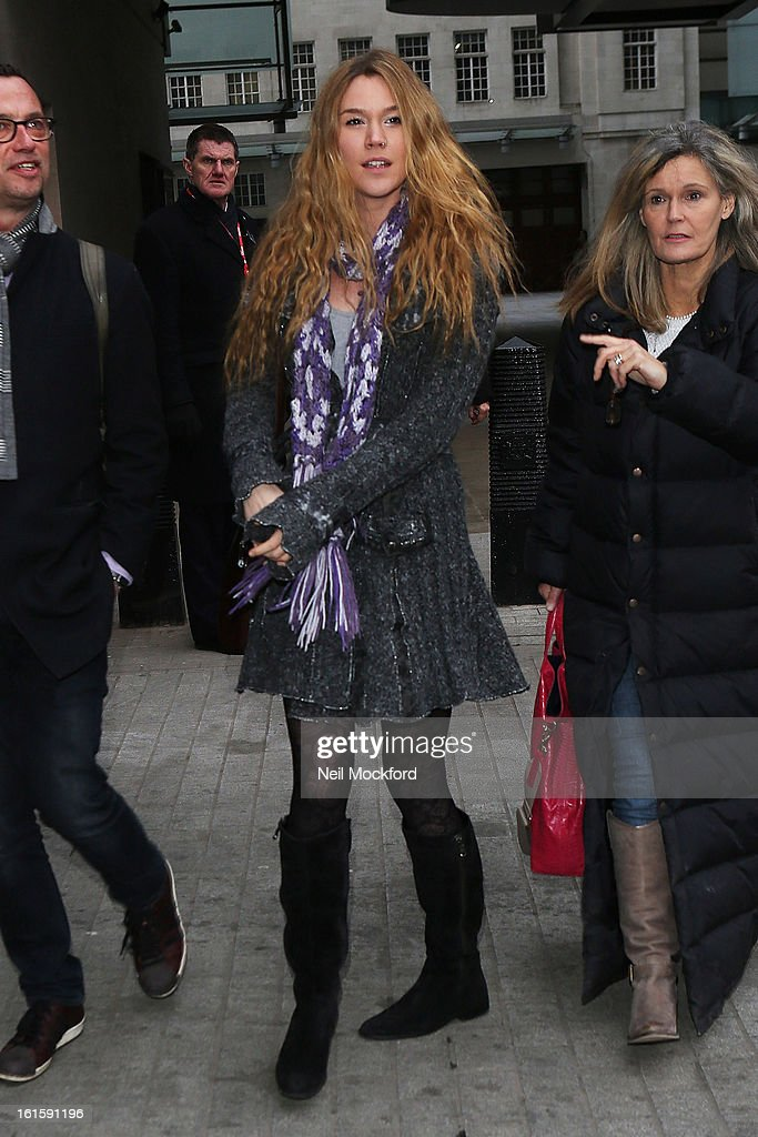 Joss Stone seen at BBC Radio One on February 12, 2013 in London, England.