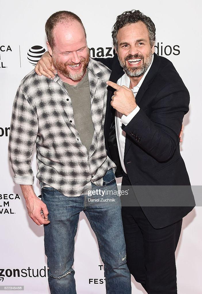 Joss Whedon and Mark Ruffalo attend the Tribeca Talks Directors Series Joss Whedon With Mark Ruffalo 2016 Tribeca Film Festival at SVA Theatre on...