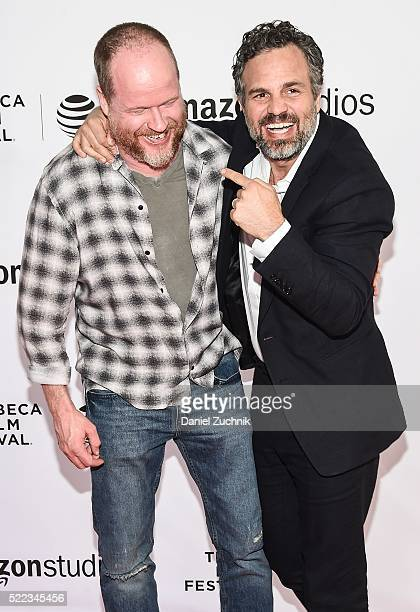 Joss Whedon and Mark Ruffalo attend the Tribeca Talks Directors Series Joss Whedon With Mark Ruffalo 2016 Tribeca Film Festival at SVA Theatre on...