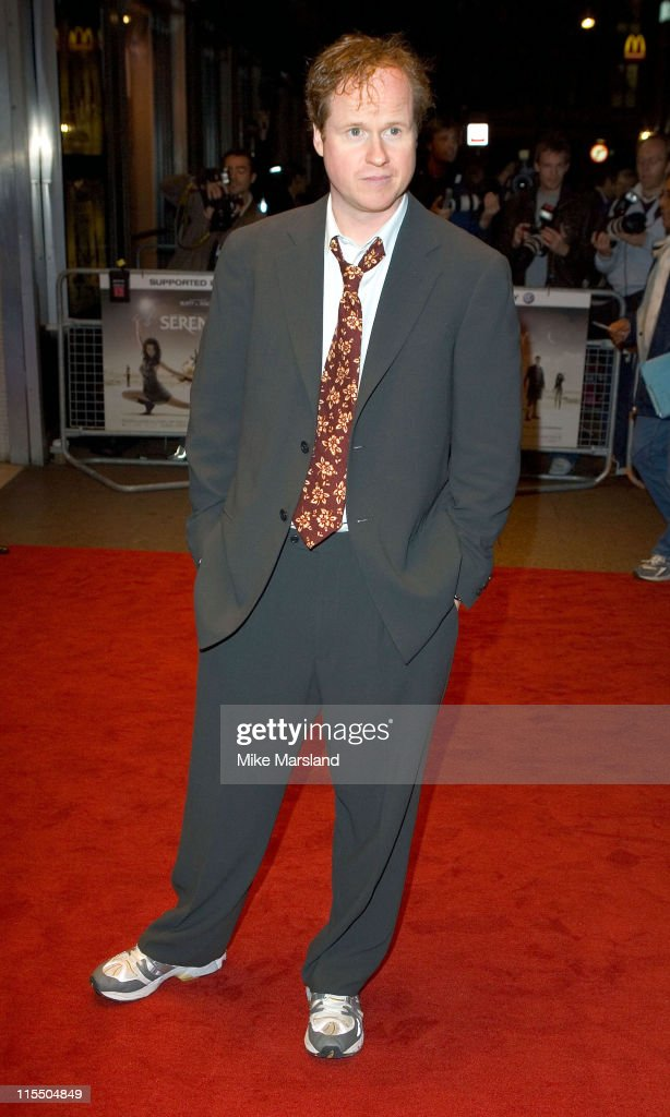 Joss Whedon during 'Serenity' London Premiere Arrivals at Odeon West End in London Great Britain