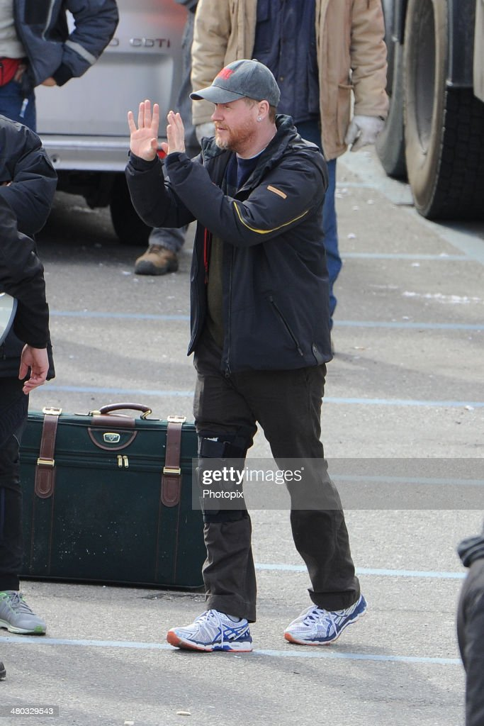 Joss Whedon is seen filming on location for 'Avengers: Age of Ultron' on March 24, 2014 in Aosta, Italy.
