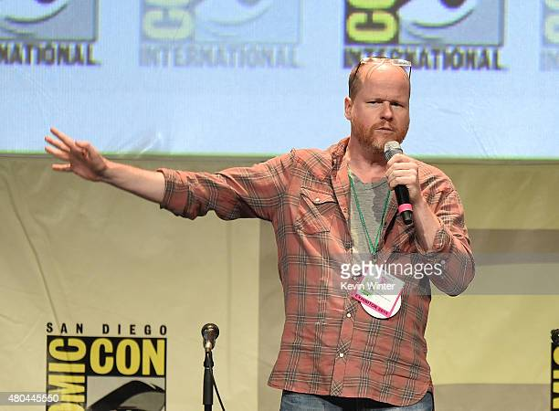 Joss Whedon speaks onstage at Dark Horse An Interview with Joss Whedon during ComicCon International 2015 at the San Diego Convention Center on July...
