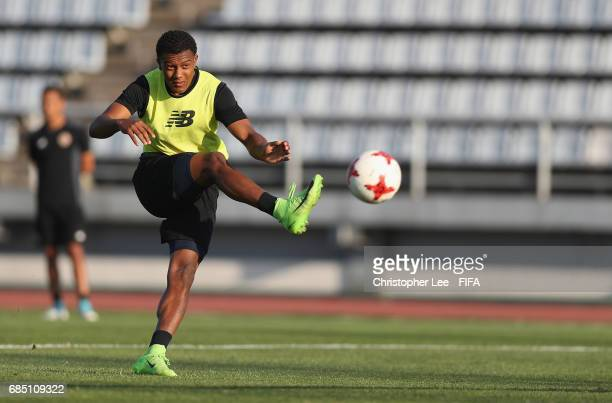 Jostin Daly of Costa Rica in action during their training Session at Kang Chang Hak Stadium on May 19 2017 in Jeju South Korea
