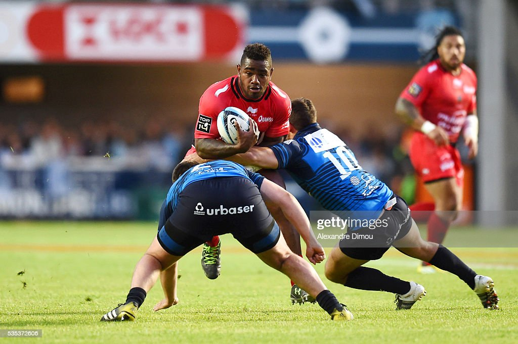 Josua Tuisova of Toulon during the rugby Top 14 match between Montpelier and RC Toulon on May 29, 2016 in Montpellier, France.