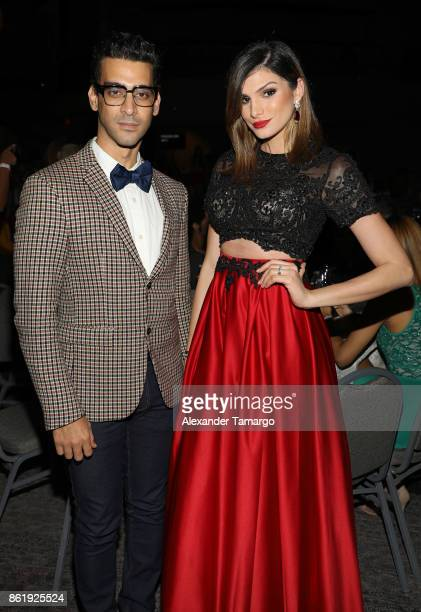 Josue Guerrero and Eva Arias are seen at the 2nd Annual Women In Film Dominicana Iris Movie Awards 2017 at Teatro La Fiesta on October 15 2017 in...