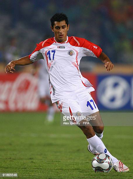 Josue Martinez of Costa Rica during the FIFA U20 World Cup Semi Final match between Brazil and Costa Rica at the Cairo International Stadium on...