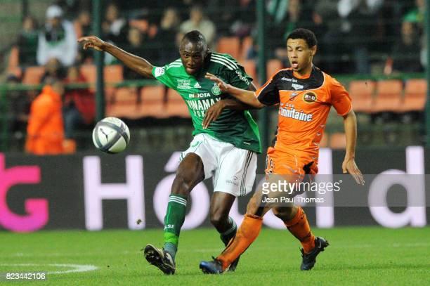 Josuha GUILAVOGUI / Francis COQUELIN Saint Etienne / Lorient 12eme journee de Ligue1