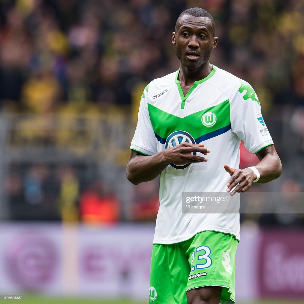 Josuha Guilavogui of VFL Wolfsburg during the Bundesliga match between Borussia Dortmund and VfL Wolfsburg on April 30, 2016 at the Signal Idun Park stadium in Dortmund, Germany.
