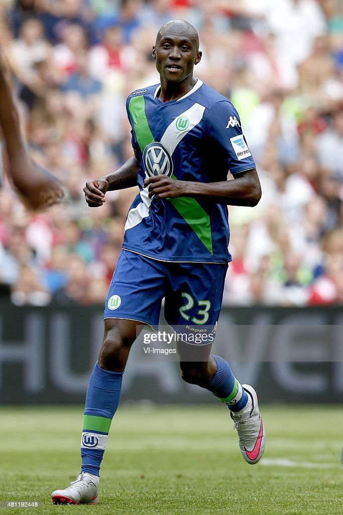 Josuha Guilavogui of VFL Wolfsburg during the pre-season friendly match between Ajax Amsterdam and VfL Wolfsburg on July 17, 2015 at the Amsterdam Arena at Amsterdam, The Netherlands.