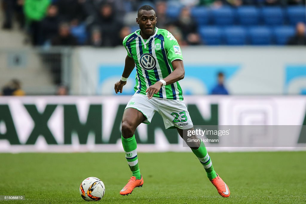 <a gi-track='captionPersonalityLinkClicked' href=/galleries/search?phrase=Josuha+Guilavogui&family=editorial&specificpeople=6722161 ng-click='$event.stopPropagation()'>Josuha Guilavogui</a> of Wolfsburg controls the ball during the Bundesliga match between 1899 Hoffenheim and VfL Wolfsburg at Wirsol Rhein-Neckar-Arena on March 12, 2016 in Sinsheim, Germany.