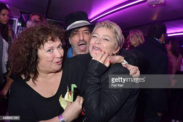 Josy Foichat Rachid Taha and TV presenter Valerie Payet attend the James Arch Party At The River's King boat on october 9 2014 in Paris France