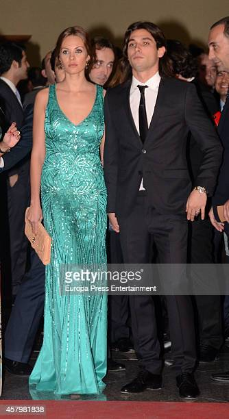 Jota Peleteiro and Jessica Bueno attend the LFP Awards Gala 2014 on October 27 2014 in Madrid Spain