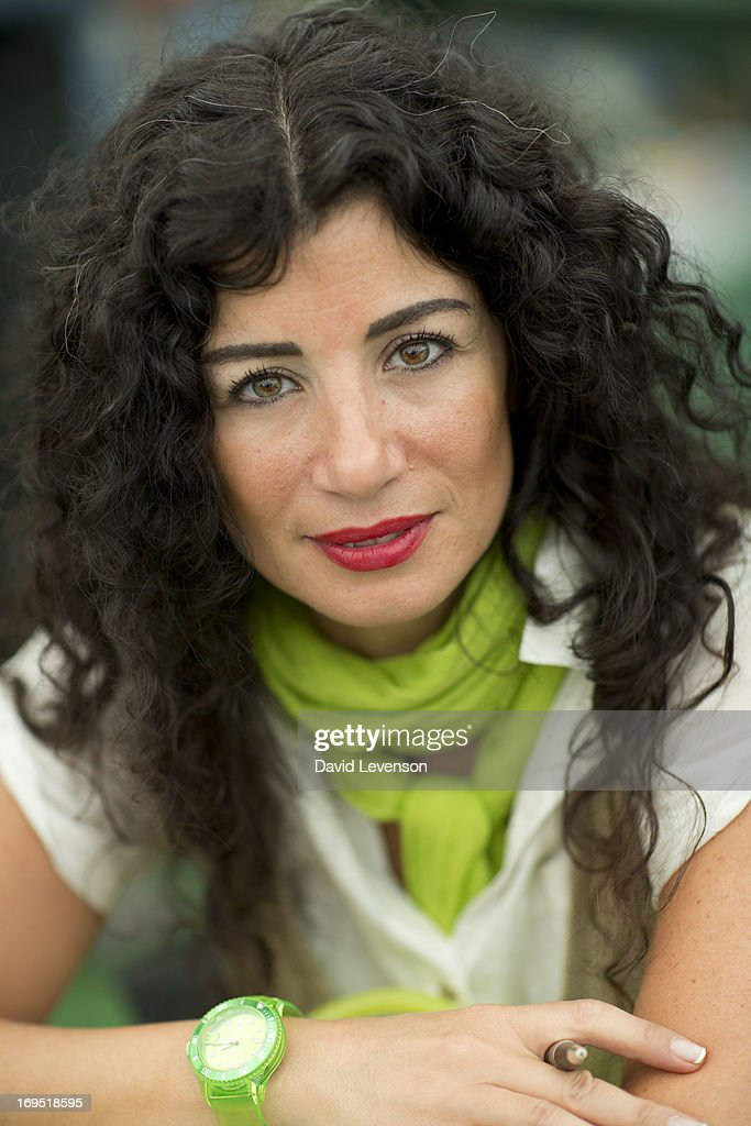 Joumana Haddad, writer, attends The Telegraph Hay festival at Dairy Meadows on May 26, 2013 in Hay-on-Wye, Wales.