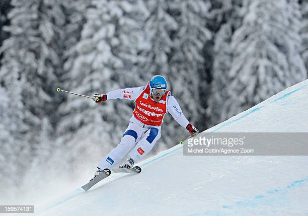 Jouni Pellinen of Finland during the FIS Freestyle Ski World Cup Men's and Women's Ski Cross on January 16 2013 in Megeve France
