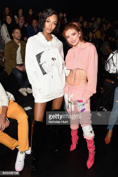 Jourdan Dunn and Bella Thorne attend Rochambeau fashion show during New York Fashion Week The Shows at Gallery 1 Skylight Clarkson Sq on September 10...