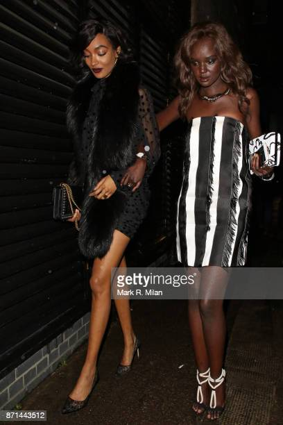 Jourdan Dunn and Duckie Thot attending the Edward Enninful dinner celebrating the December issue of British Vogue on November 7 2017 in London England