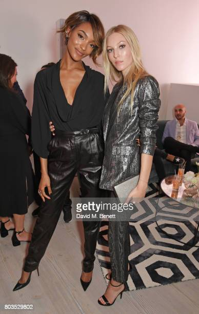 Jourdan Dunn and Ella Richards attend Tatler's English Roses 2017 in association with Michael Kors at the Saatchi Gallery on June 29 2017 in London...