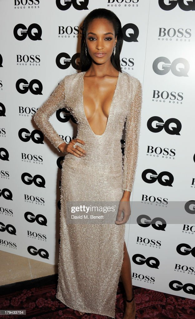 Jourdan Dunn arrives at the GQ Men of the Year awards at The Royal Opera House on September 3, 2013 in London, England.