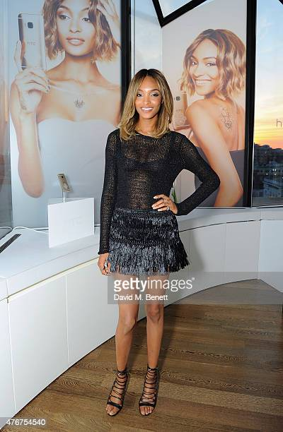 Jourdan Dunn at the HTC and Jourdan Dunn launch of the Limited Edition HTC One M9 INK handset at ME Hotel on June 11 2015 in London England