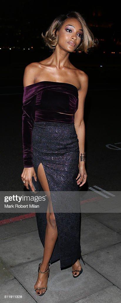 Jourdan Dunn attending the Elle Style awards on February 23 2016 in London England