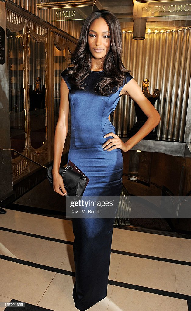 Jourdan Dunn attends a drinks reception at the British Fashion Awards 2012 at The Savoy Hotel on November 27, 2012 in London, England.