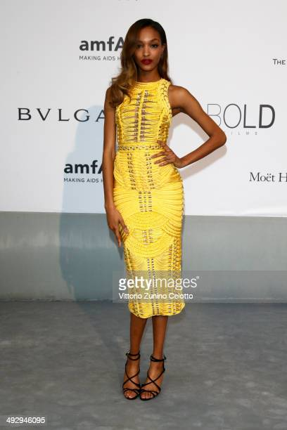 Jourdan Dunn attends amfAR's 21st Cinema Against AIDS Gala Presented By WORLDVIEW BOLD FILMS And BVLGARI at Hotel du CapEdenRoc on May 22 2014 in Cap...