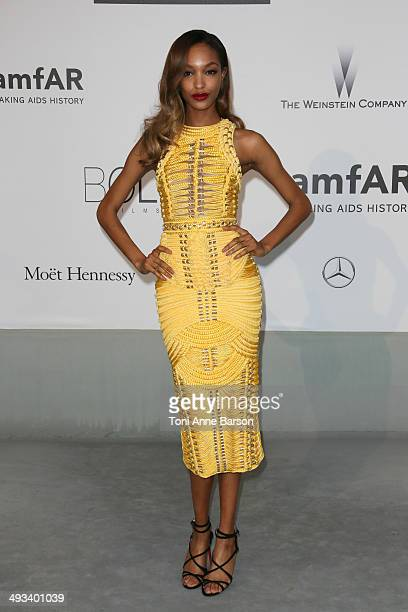 Jourdan Dunn attends amfAR's 21st Cinema Against AIDS Gala Presented By WORLDVIEW BOLD FILMS And BVLGARI at the 67th Annual Cannes Film Festival on...